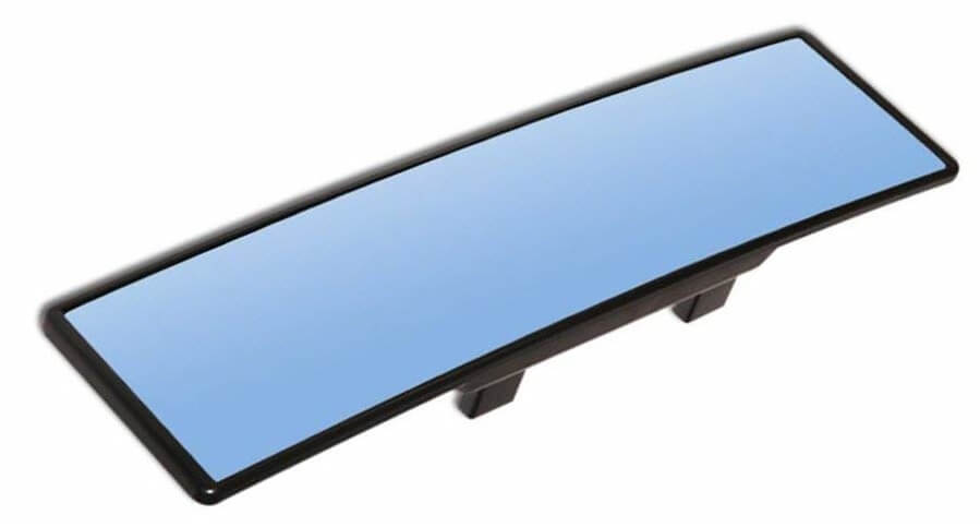 PME 11.8 Wide Blue Tinted Anti-Glare Curved Wide-Angle Panoramic Clip-on Rear View Mirror